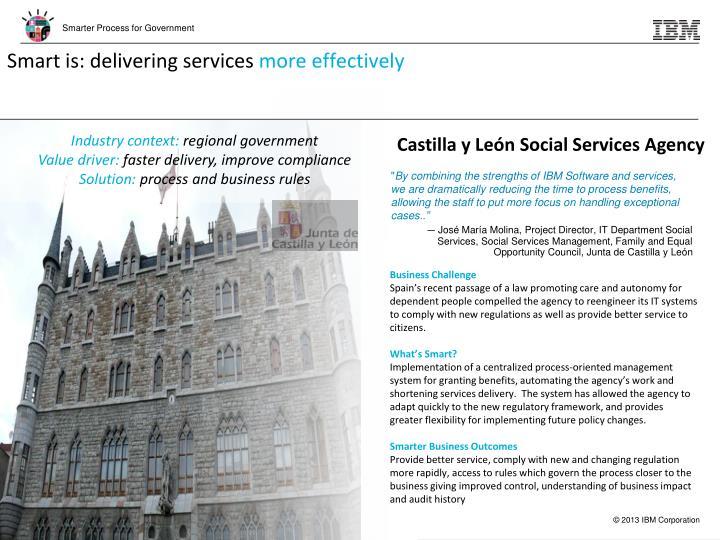 Smart is: delivering services