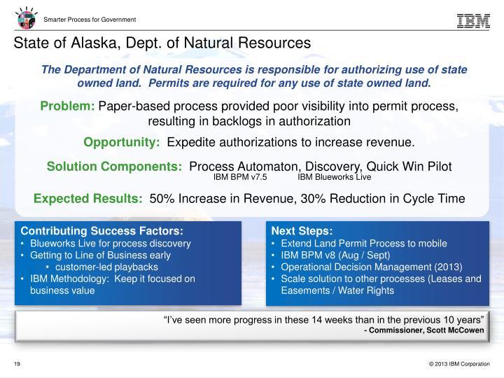 State of Alaska, Dept. of Natural Resources