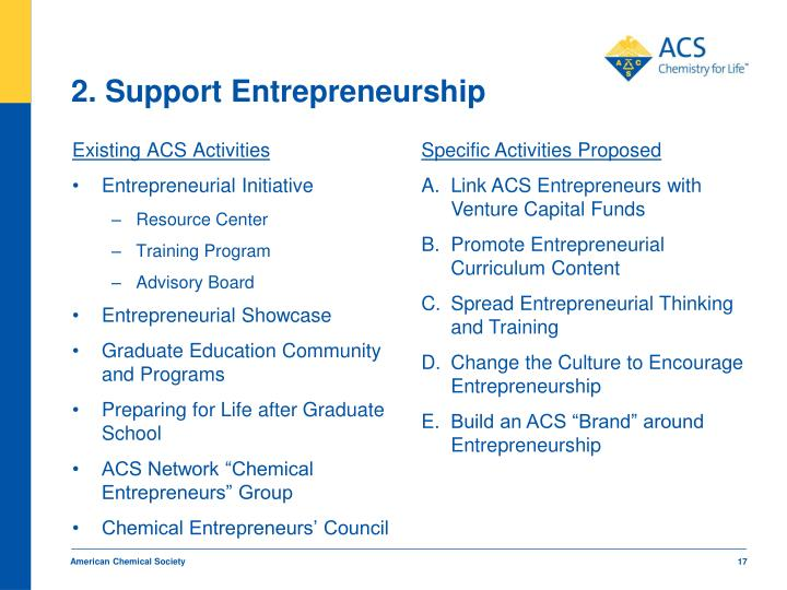 2. Support Entrepreneurship