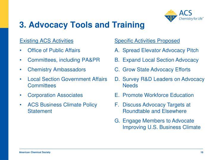 3. Advocacy Tools