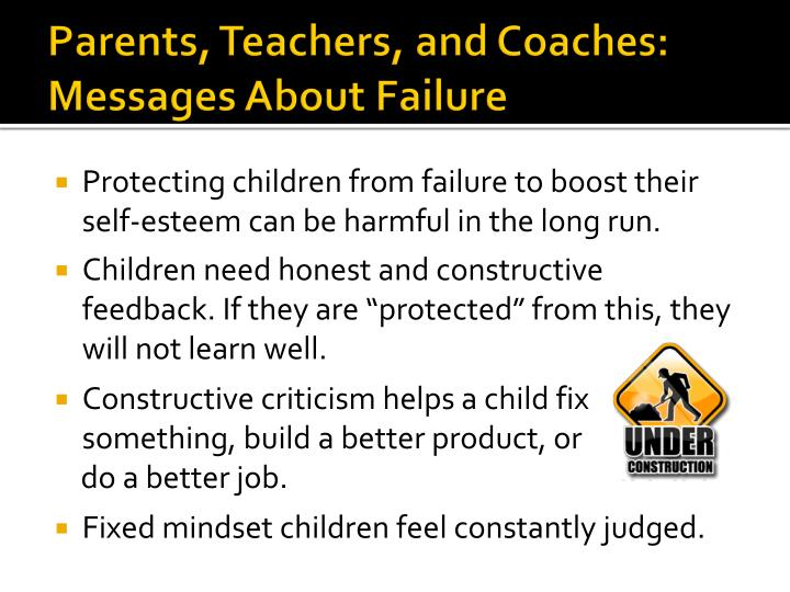 Parents, Teachers, and Coaches: