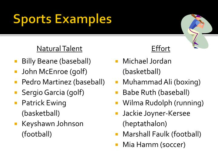 Sports Examples
