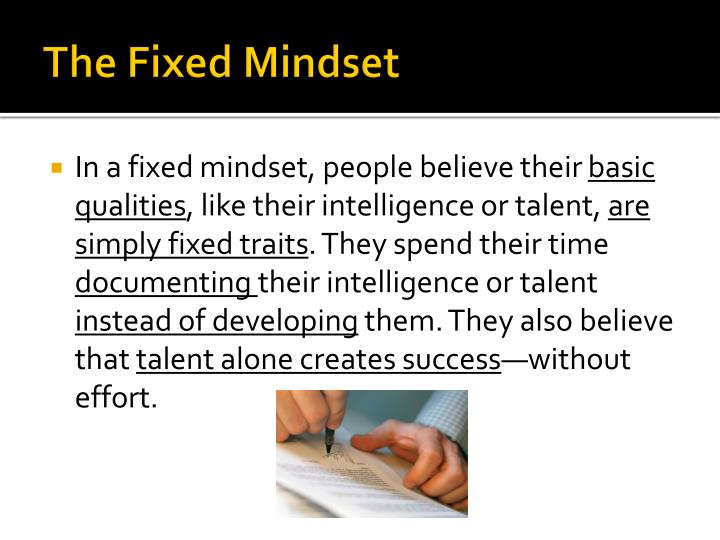 The Fixed Mindset