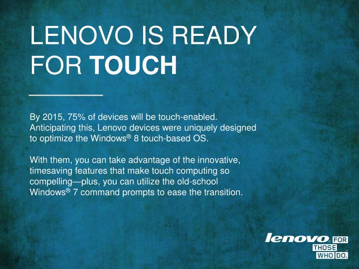 LENOVO IS READY