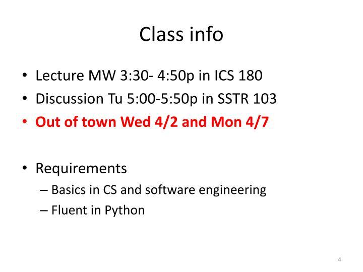 Class info