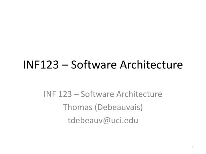 Inf123 software architecture