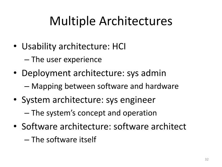 Multiple Architectures