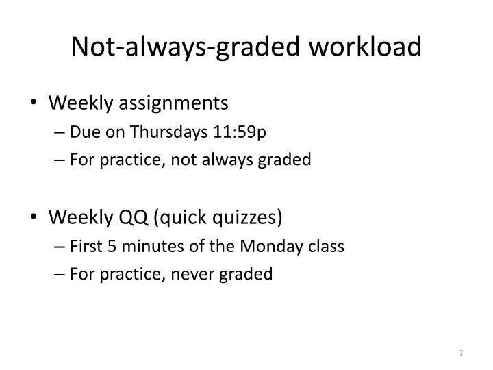 Not-always-graded workload