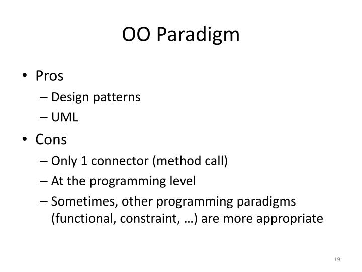 OO Paradigm
