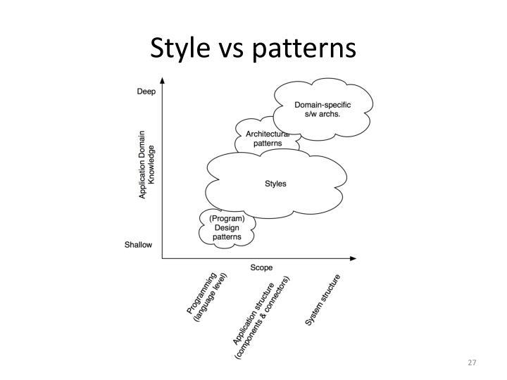 Style vs patterns