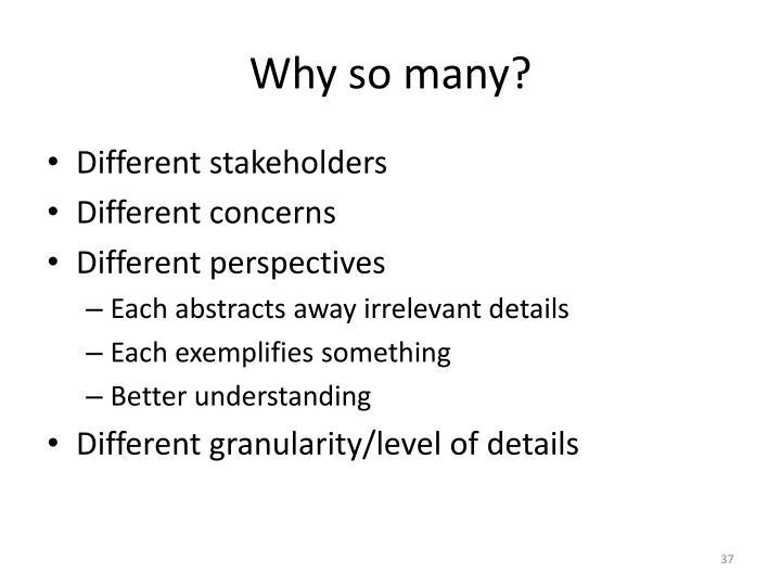 Why so many?