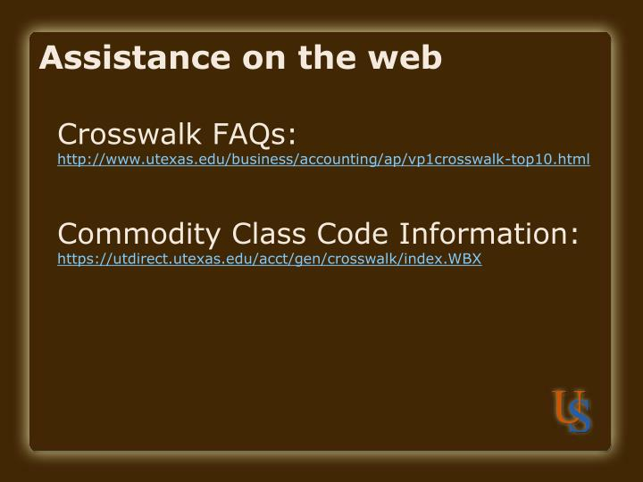 Assistance on the web