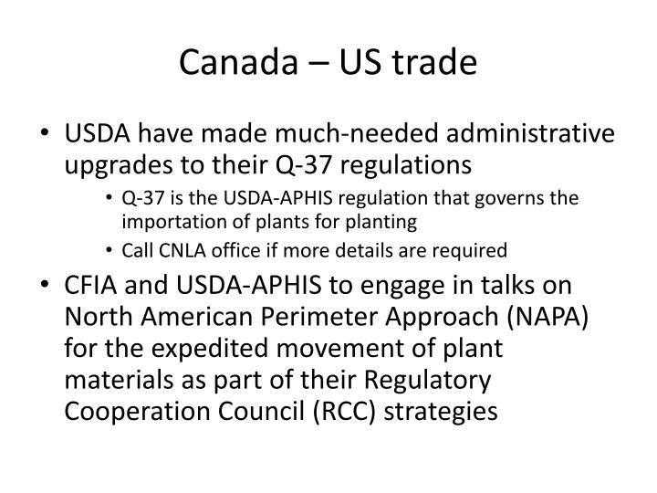 Canada – US trade