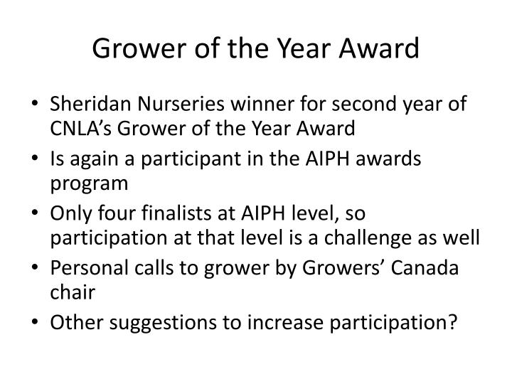 Grower of the Year Award