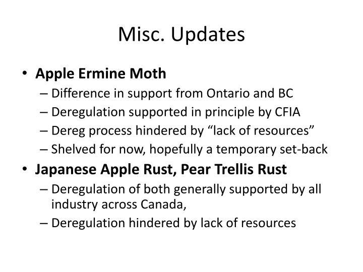 Misc. Updates