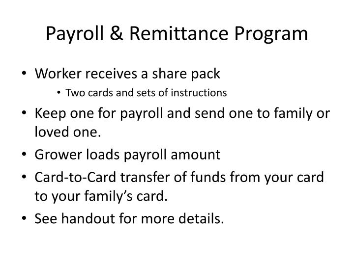Payroll & Remittance Program