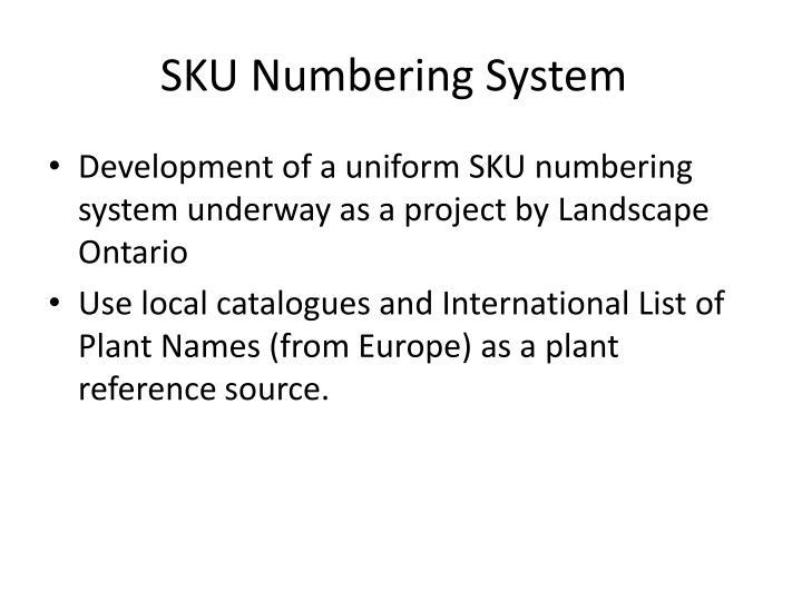 SKU Numbering System