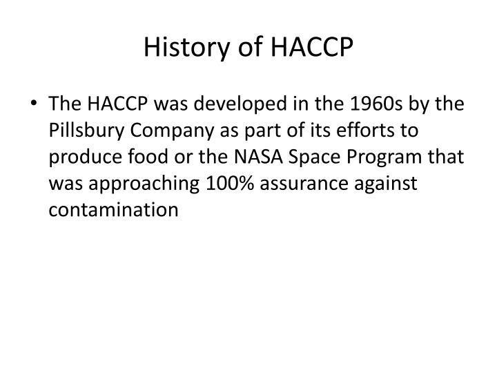 History of HACCP