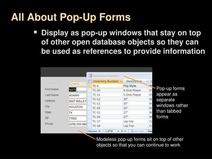 All About Pop-Up Forms