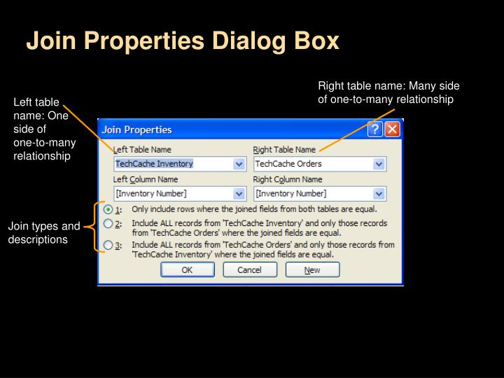 Join Properties Dialog Box