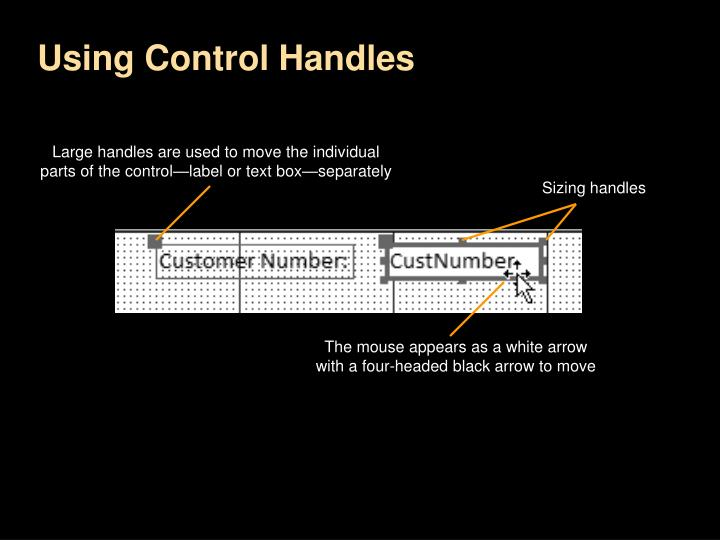 Using Control Handles