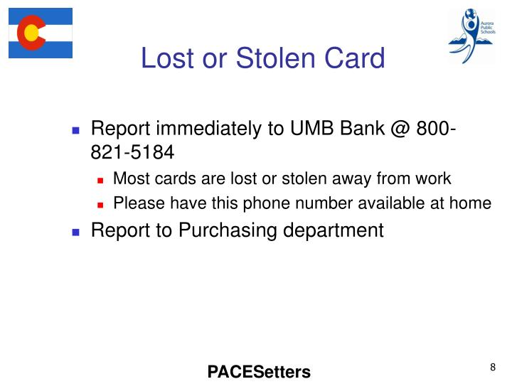 Lost or Stolen Card