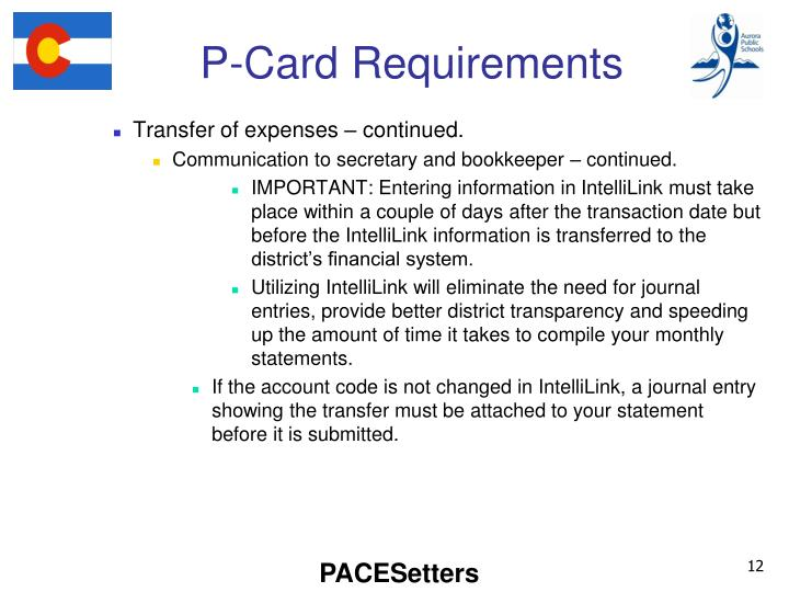 P-Card Requirements
