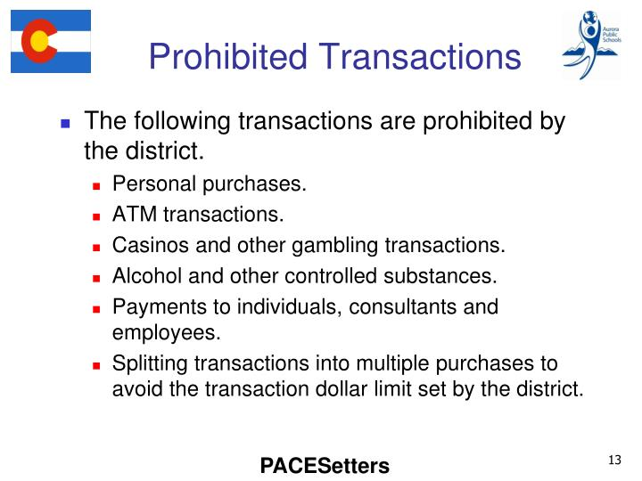 Prohibited Transactions