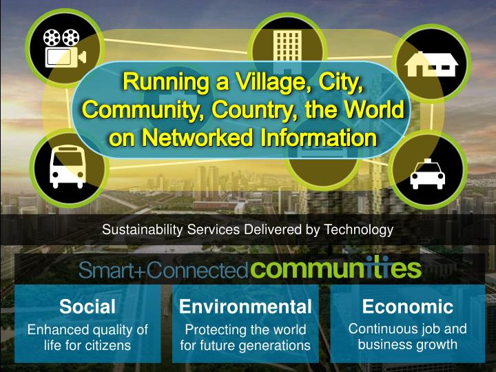 Running a Village, City, Community, Country, the World on Networked Information