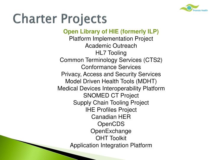 Charter Projects
