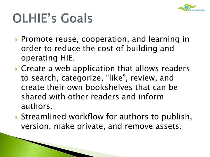 OLHIE's Goals