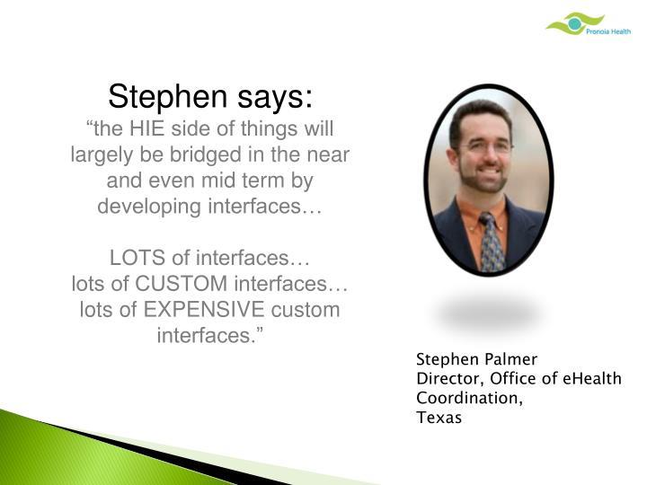 Stephen says: