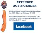 attendee age gender