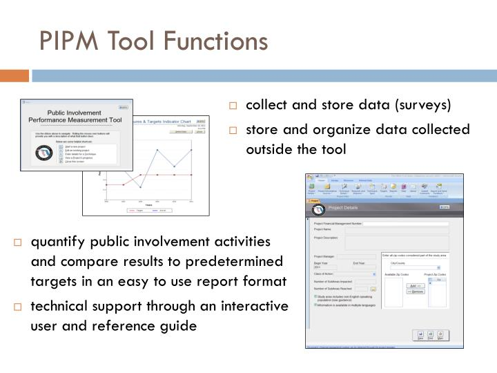 PIPM Tool Functions