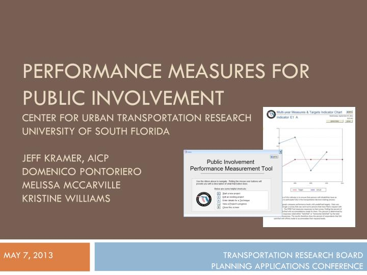Performance Measures for