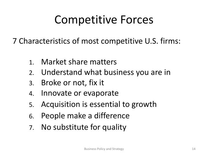 Competitive Forces
