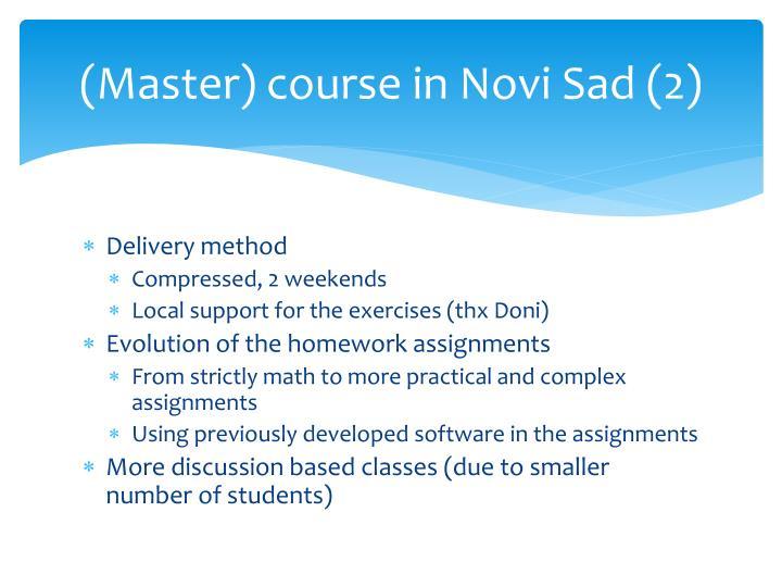 (Master) course in Novi Sad (2)