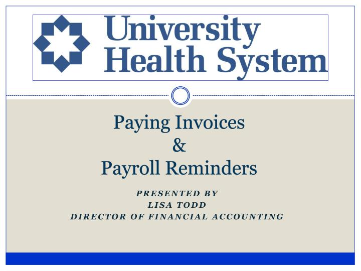 Paying invoices payroll reminders