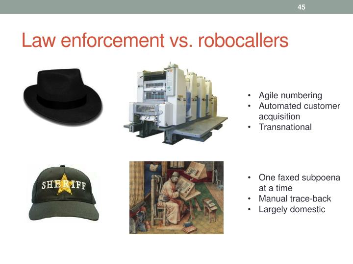 Law enforcement vs. robocallers