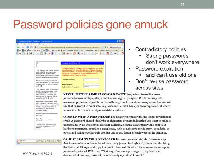 Password policies gone amuck
