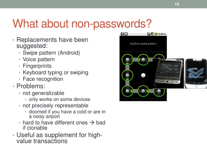 What about non-passwords?