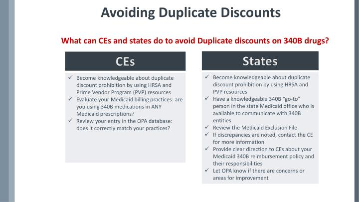 Avoiding Duplicate Discounts