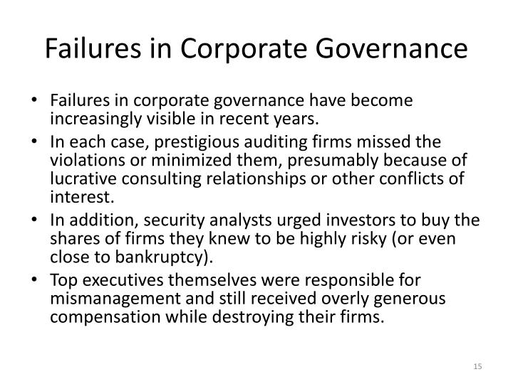 Failures in Corporate Governance