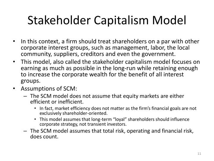 Stakeholder Capitalism Model