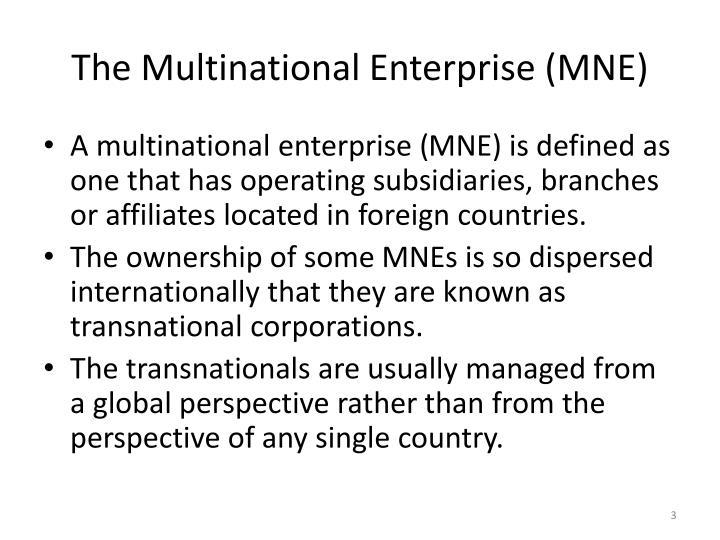 The Multinational Enterprise (