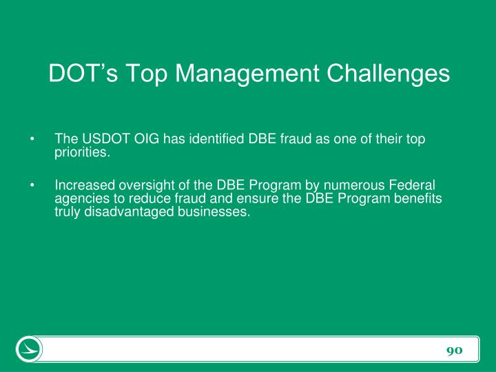 DOT's Top Management Challenges