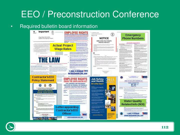 EEO / Preconstruction Conference