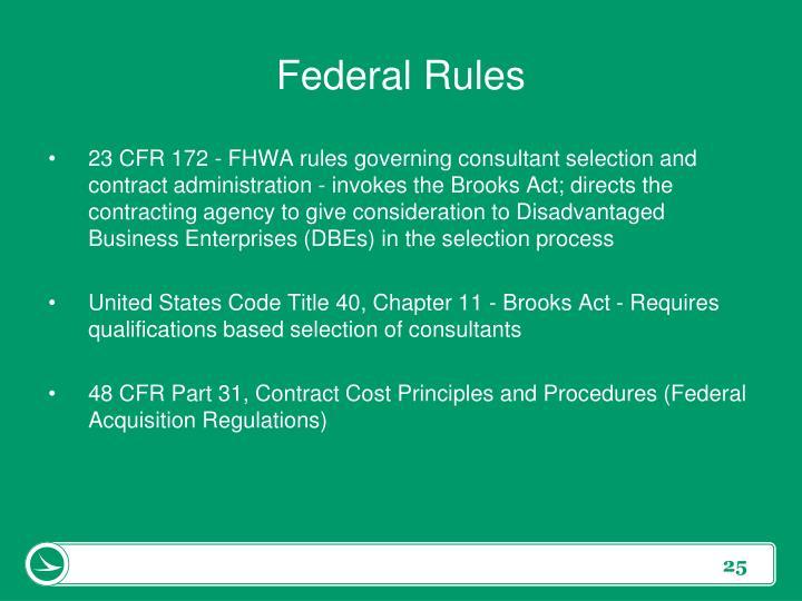 Federal Rules