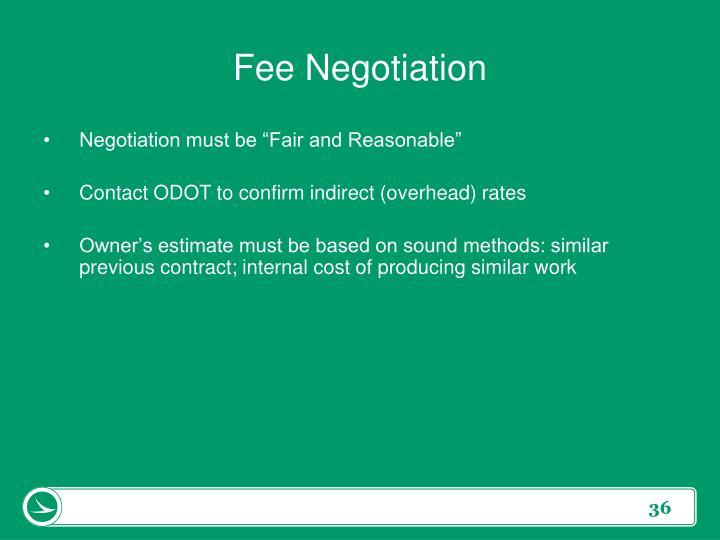 Fee Negotiation