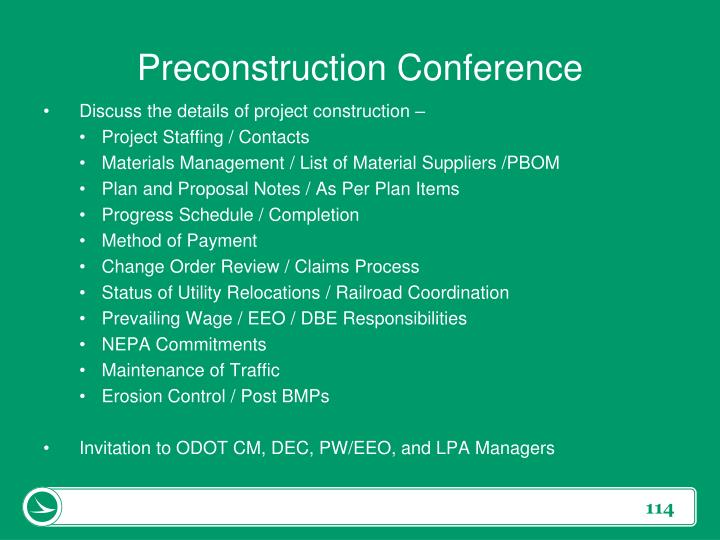 Preconstruction Conference